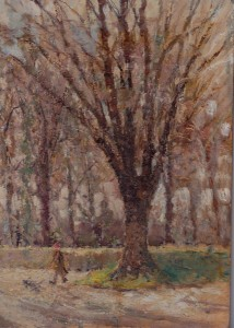 Detail of a painting of John Wesley's tree by W.W.Thomas (my father's oldest brother).
