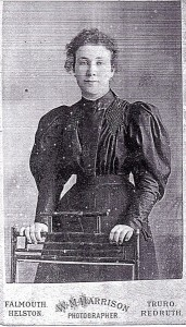 Mary Nicholls as newly qualified Board School teacher