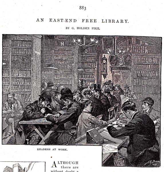 Bethnal Green Public Library, The Quiver, 1888