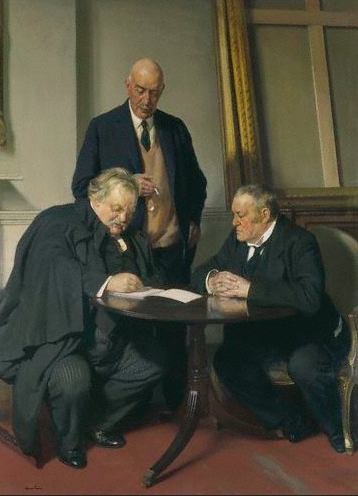 G.K.Chesterton, Baring and Hilaire Belloc, 1932 (National Portrait Gallery)