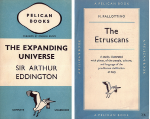 Original Pelican cover design by Edward Young (left) 1949 re-design by Jan Tschichold (right)