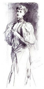 1894 Pencil portrait of Alice Meynell by John Singer Sargant