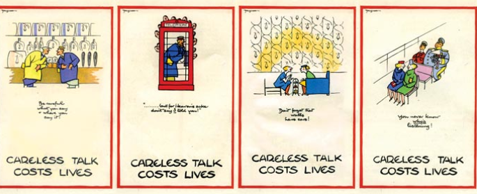 4 samples of Fougasse's Ministry of Information posters