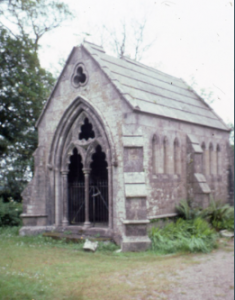 Pendarves family mausoleum (built 1854) in Treslothan churchyard