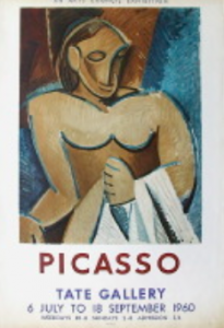 Tate Gallery poster for 1960 Picasso exhibition