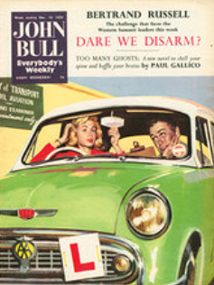 john bull woman driver cover 1950s