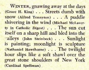 "A sample of the Reader's Digest choice of ""picturesque speech,"" June 1956"