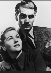 Laurence Olivier and Joan Fontaine in Hitchcock's 1940 Rebecca