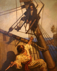 N..C. Wyeth illustration for 1911 edition of Treasure Island