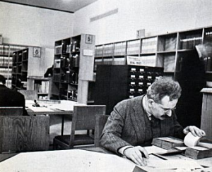 Walter Benjamin in the Bibiotheque Nationale, 1932