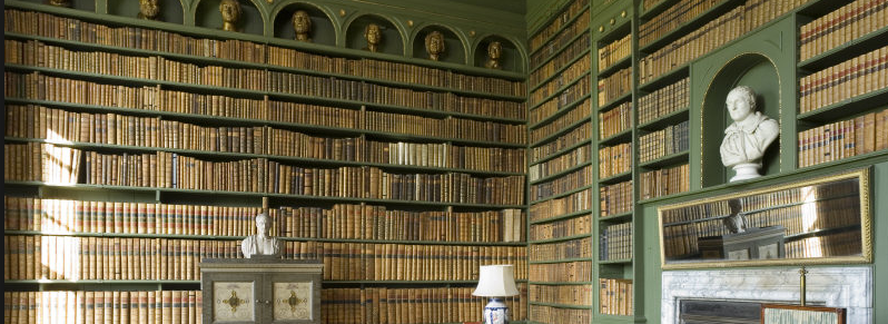 Library at Belton House, Lincolnshire. ©NTPL Andreas von Einsiedel